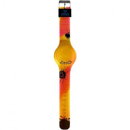 Orologio Multifunzione Regular Unisex FLUO-14 della collezione Fluo Zitto. Modello con cassa di forma rotonda del diametro di 44 cm. Display A Led e cinturino in gomma di colori misti fluo. Modello con batteria non ricaricabile e la sua resistenza all'acqua è di 10 atm. Presenza anche il datario.