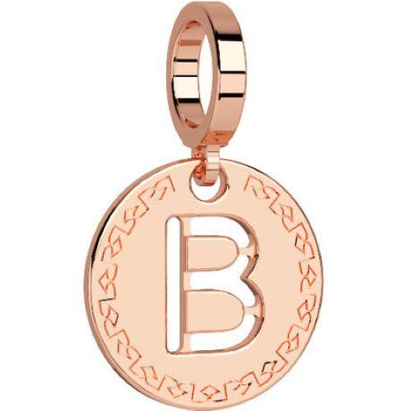 Charm Rebecca My world donna in bronzo rodiato di colore rosè con lettera B