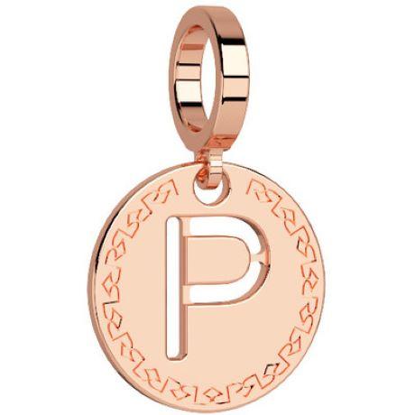 Charm Rebecca My world donna in bronzo rodiato di colore rosè con lettera p
