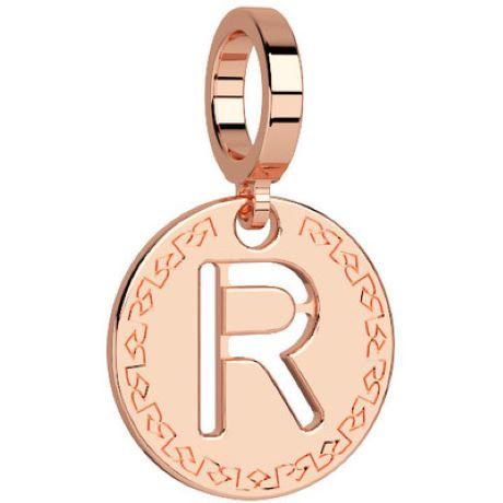 Charm Rebecca My world donna in bronzo rodiato di colore rosè con lettera R
