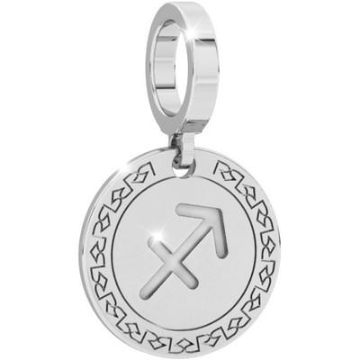 Charm Rebecca donna della collezione My World, in argento 925/1000 con segno zodiacale sagittario inciso.