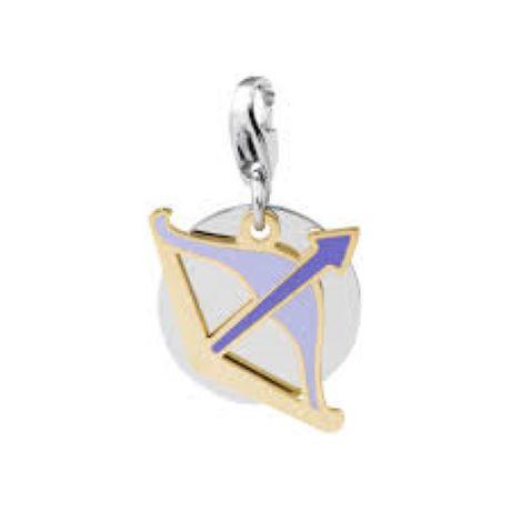 Charm S'agapò donna della collezione Happy sha09 charm in acciaio con segno zodiacale SAGITTARIO