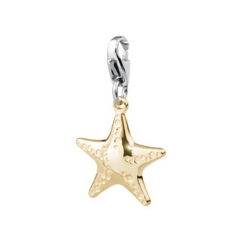 Charm S'agapò donna della collezione Happy sha42 charm in acciaio con stella marina colore oro