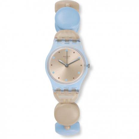 Orologio donna Swatch LL116A. Questo orologio femminile ha una cassa in plastica con un diametro di 25 mm ed è dotato di un cinturino in Plastica / resina. All'interno ha un movimentoper orologi di qualità ed è finito con un vetro di tipo plexiglass. L'orologio è impermeabile a 3ATM. Ciò significa che l'orologio è impermeabile ai spruzzi.