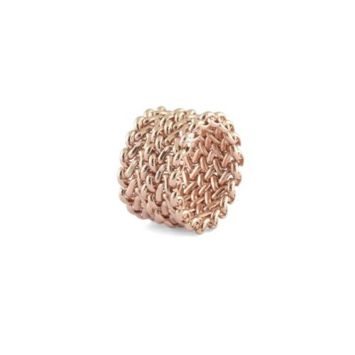 Anello Donna in Bronzo Unoaerre 000EXA0620000della collazione Bonze. Questo modello realizzato in bronzo rosè in tessuto chicco di riso a fascia. mis.15-21. Questo anello fa parte della serie Unoaerre Gioielli.