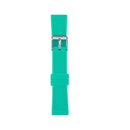 Cinturino Orologio Iam IAM-201. Cinturino medium per orologio Iam realizzato in silicone di colore verde acquamarina con fibbia in acciaio.