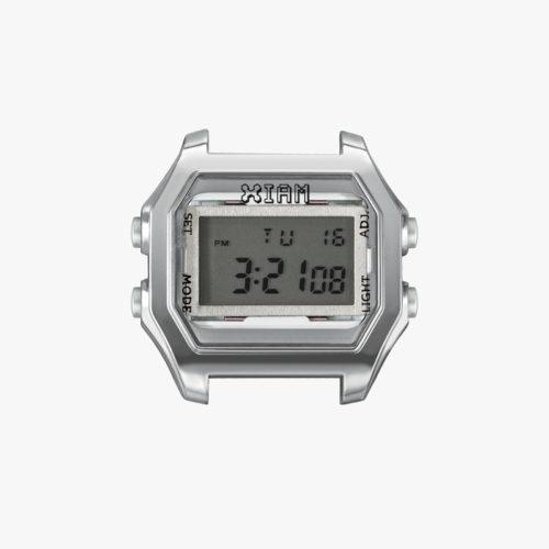 Orologio Digitale Iam IAM-022. Orologio con cassa medium in policarbonato di colore grigio con pulsanti grigi.
