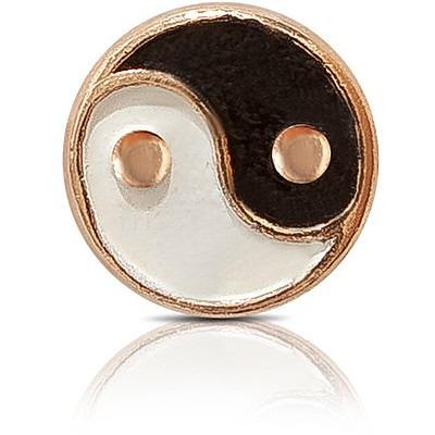 Charm Tao Kulto925 Donna KC925-076 della collezione always with me. Gioiello a forma di Ying Yang realizzato in argento 925 con finitura rosè. Scegli i charms che preferisci e personalizza il tuo gioiello Kulto925.