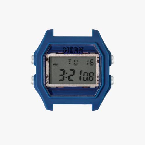 Orologio Digitale Iam IAM-113. Orologio con cassa large in policarbonato di colore blu con pulsanti laterali di colore grigio chiaro.