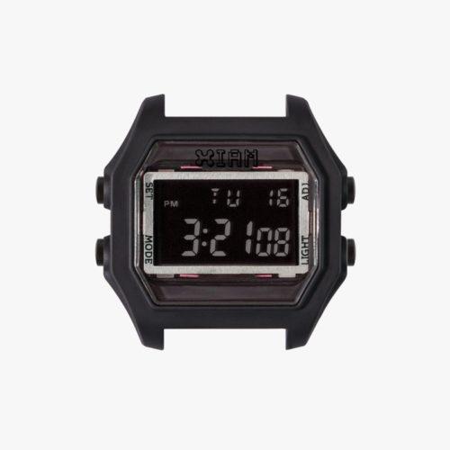 Orologio Digitale Iam IAM-111. Orologio con cassa large in policarbonato di colore nero con pulsanti laterali di colore nero.
