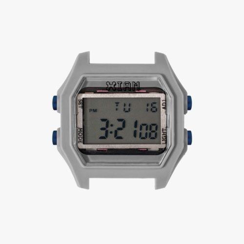 Orologio Digitale Iam IAM-114. Orologio con cassa large in policarbonato di colore grigio con pulsanti laterali di colore blu