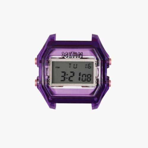 Orologio Digitale Iam IAM-018. Orologio con cassa medium in policarbonato di colore viola con pulsanti rosa.