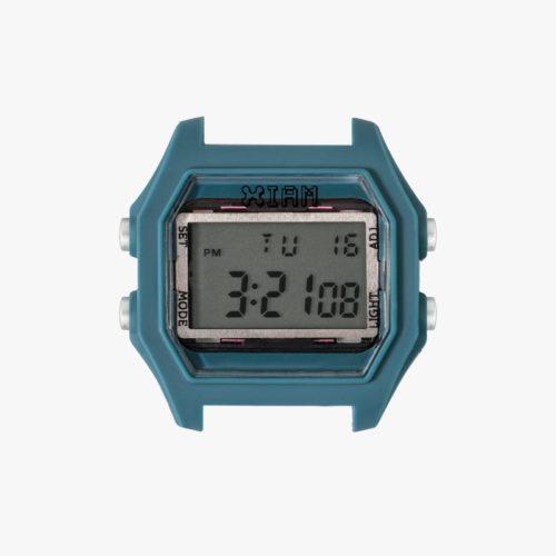 Orologio Digitale Iam IAM-112. Orologio con cassa large in policarbonato di colore blu con pulsanti laterali di colore grigio chiaro.