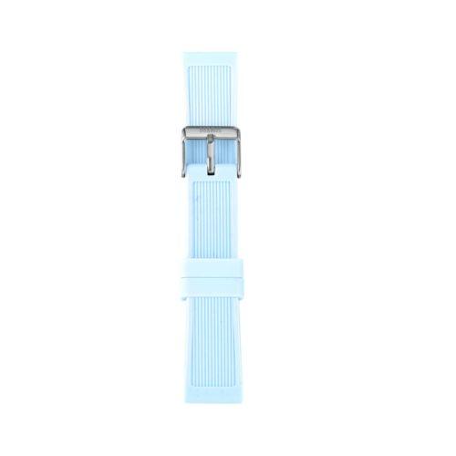 Cinturino Orologio Iam IAM-202. Cinturino medium per orologio Iam realizzato in silicone di colore celeste con fibbia in acciaio.