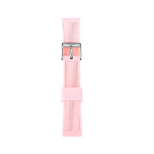 Cinturino Orologio Iam IAM-203. Cinturino medium per orologio Iam realizzato in silicone di colore rosa con fibbia in acciaio.