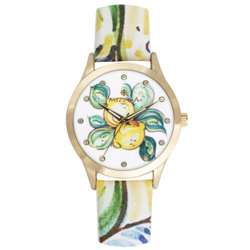 Orologio Donna Mizzica MB104 della collezione I Limoni. L'essenza di Mizzica è la combinazione tra arte siciliana, design e creatività