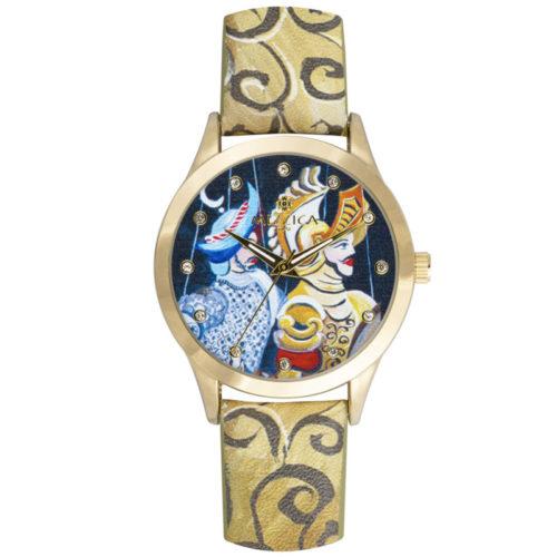 Orologio Donna Mizzica MB111 della collezione I Pupi. L'essenza di Mizzica è la combinazione tra arte siciliana, design e creatività.