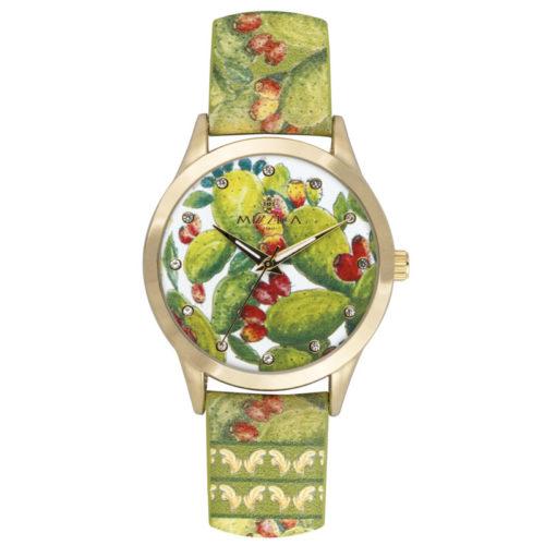 Orologio Donna Mizzica MB102 della collezione Ficodindia. L'essenza di Mizzica è la combinazione tra arte siciliana, design e creatività