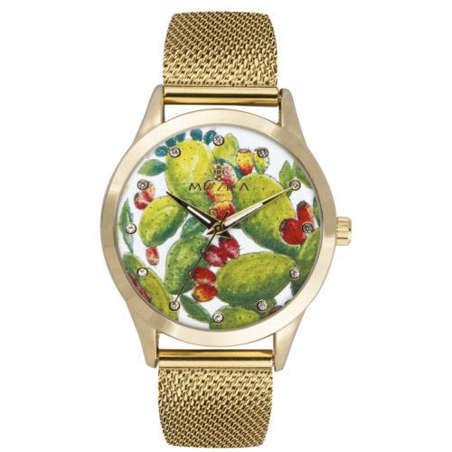 Orologio Donna Mizzica MC102 della collezione Ficodindia. L'essenza di Mizzica è la combinazione tra arte siciliana, design e creatività