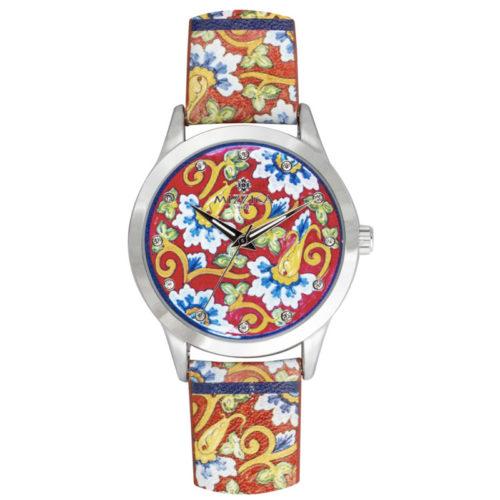 Orologio Donna Mizzica MB109 della collezione Il fiore blu. L'essenza di Mizzica è la combinazione tra arte siciliana, design e creatività.