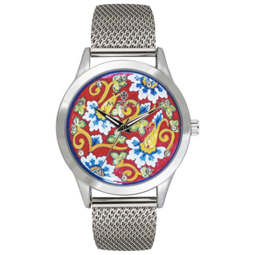 Orologio Donna Mizzica MC109 della collezione Il fiore blu. L'essenza di Mizzica è la combinazione tra arte siciliana, design e creatività.