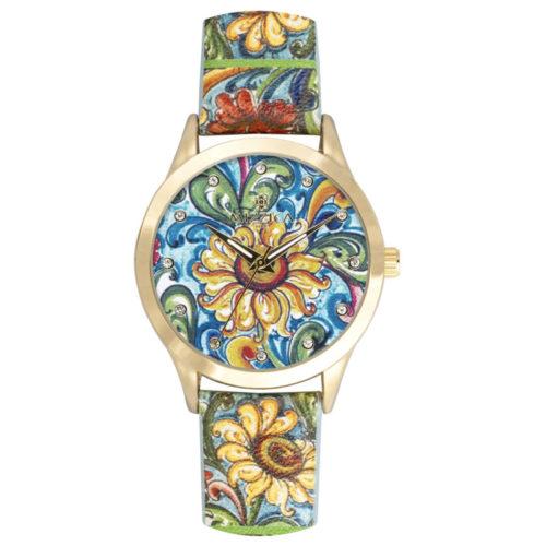 Orologio Donna Mizzica MB107 della collezione Il Girasole. L'essenza di Mizzica è la combinazione tra arte siciliana, design e creatività.