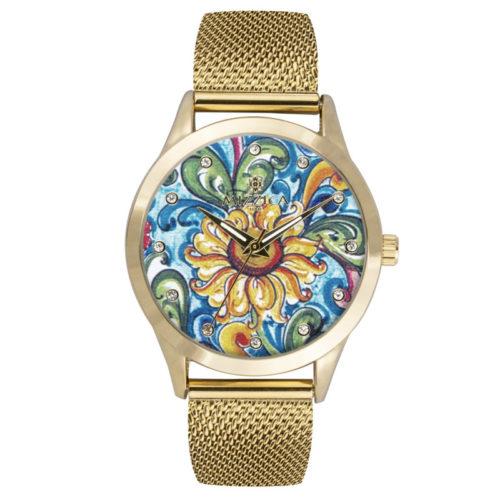 Orologio Donna Mizzica MC107 della collezione Il Girasole. L'essenza di Mizzica è la combinazione tra arte siciliana, design e creatività.