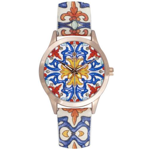 Orologio Donna Mizzica MB108 della collezione Keramos. L'essenza di Mizzica è la combinazione tra arte siciliana, design e creatività