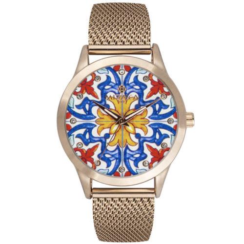 Orologio Donna Mizzica MC108 della collezione Keramos. L'essenza di Mizzica è la combinazione tra arte siciliana, design e creatività.