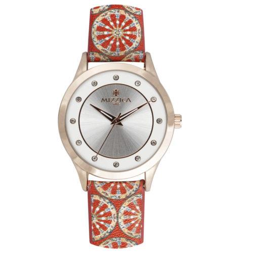 Orologio Donna Mizzica MA101 della collezione La ruota. L'essenza di Mizzica è la combinazione tra arte siciliana, design e creatività