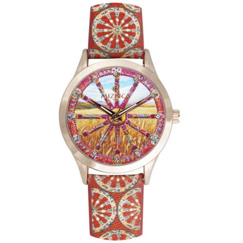 Orologio Donna Mizzica MB101 della collezione La ruota. L'essenza di Mizzica è la combinazione tra arte siciliana, design e creatività