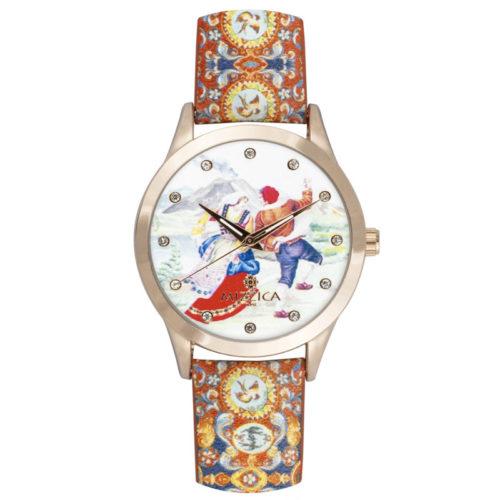 Orologio Donna Mizzica MB105 della collezione La Taranta. L'essenza di Mizzica è la combinazione tra arte siciliana, design e creatività.