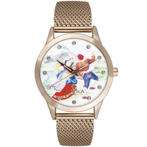 Orologio Donna Mizzica MC105 della collezione La Taranta. L'essenza di Mizzica è la combinazione tra arte siciliana, design e creatività.