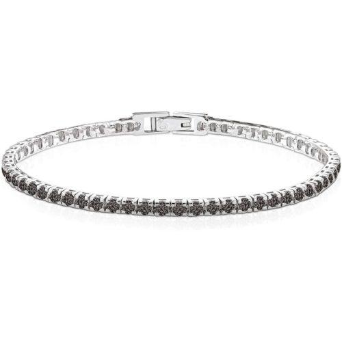 Bracciale Kulto925 Donna KT925-002 della collezione Always with me. Bracciale Tennis realizzato in argento 925 con zirconi neri.