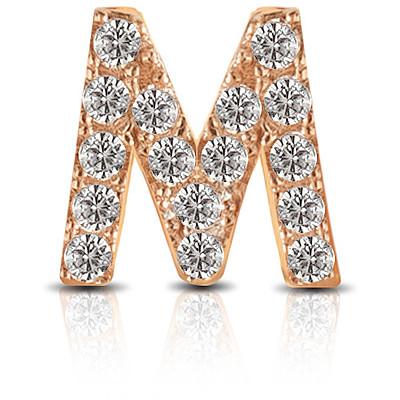 Charm Kulto925 Donna KC925-039 della collezione always with me. Gioiello realizzato in argento 925 in rosè lettera M, impreziosita da zirconi. Scegli i charms che preferisci e personalizza il tuo gioiello Kulto925.