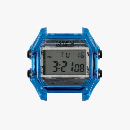 Orologio Digitale Iam IAM-115. Orologio con cassa large in policarbonato di colore blu con pulsanti laterali di colore nero.