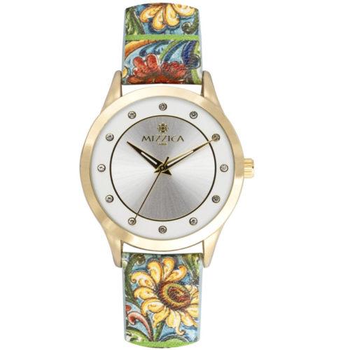 Orologio Donna Mizzica MA107 della collezione Il Girasole. L'essenza di Mizzica è la combinazione tra arte siciliana, design e creatività.