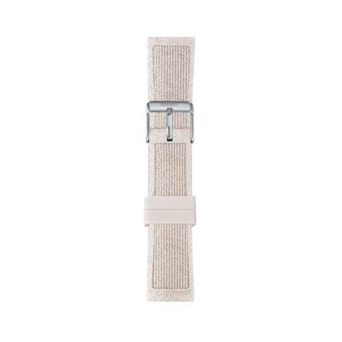 Cinturino Orologio Iam IAM-220. Cinturino medium per orologio Iam realizzato in silicone di colore bianco glitter con fibbia in acciaio.