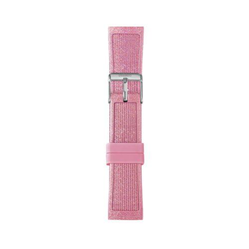 Cinturino Orologio Iam IAM-215. Cinturino medium per orologio Iam realizzato in silicone di colore rosa glitter con fibbia in acciaio.