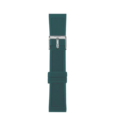 Cinturino Orologio Iam IAM-314. Cinturino large per orologio Iam realizzato in silicone di colore verde scuro con fibbia in acciaio.