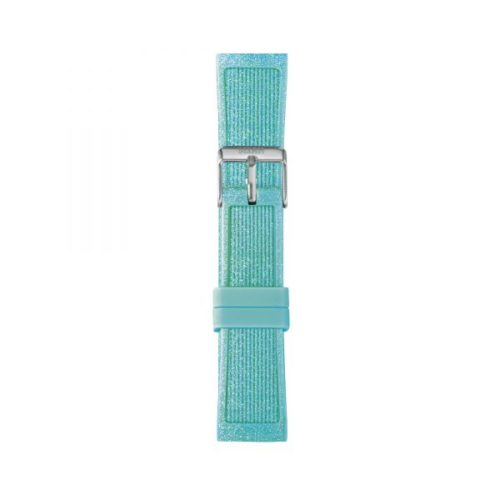 Cinturino Orologio Iam IAM-217. Cinturino medium per orologio Iam realizzato in silicone di colore verde glitter con fibbia in acciaio.