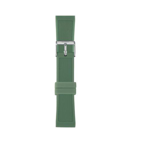 Cinturino Orologio Iam IAM-312. Cinturino large per orologio Iam realizzato in silicone di colore verde con fibbia in acciaio.
