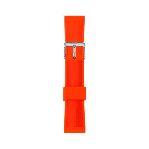 Cinturino Orologio Iam IAM-308. Cinturino large per orologio Iam realizzato in silicone di arancione con fibbia in acciaio.