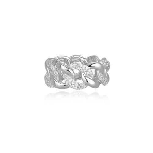 Anello donna Mabina 523170. Anello in argento 925 con zirconi bianchi. Disponibile in diverse misure: 13 - 17