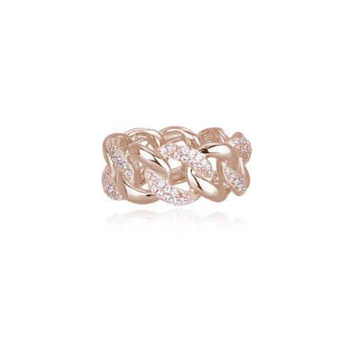 Anello donna Mabina 523171. Anello in argento 925 rosato con zirconi bianchi. Disponibile in diverse misure: 13 - 17
