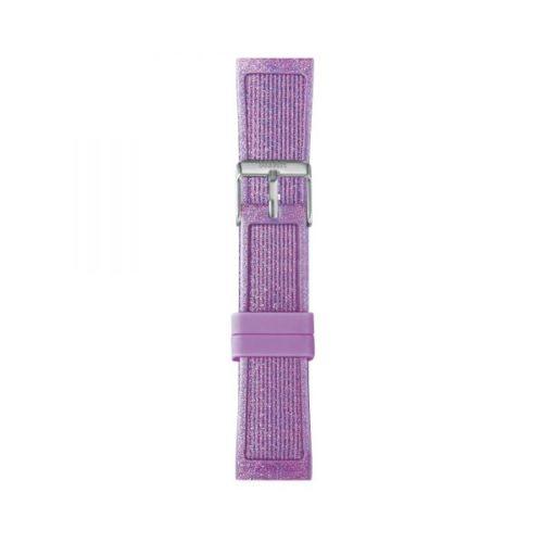 Cinturino Orologio Iam IAM-216. Cinturino medium per orologio Iam realizzato in silicone di colore viola glitter con fibbia in acciaio.