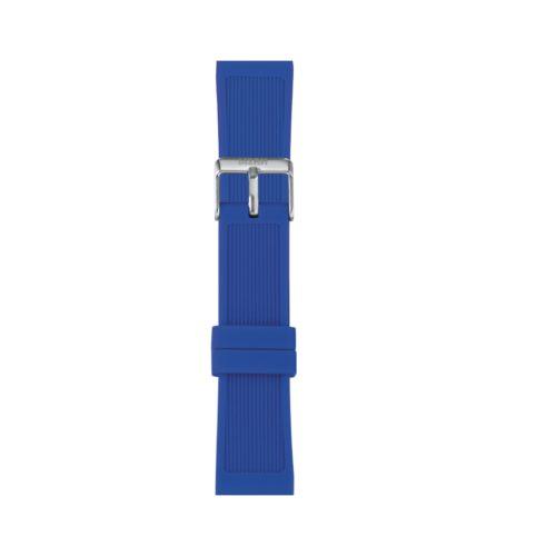 Cinturino Orologio Iam IAM-313. Cinturino large per orologio Iam realizzato in silicone di colore blu con fibbia in acciaio.