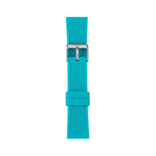 Cinturino Orologio Iam IAM-307. Cinturino large per orologio Iam realizzato in silicone di colore azzurro giada con fibbia in acciaio.