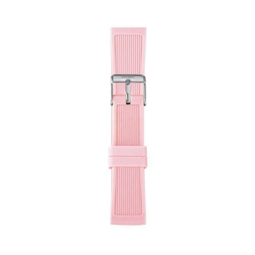 Cinturino Orologio Iam IAM-213. Cinturino medium per orologio Iam realizzato in silicone di colore rosa con fibbia in acciaio.