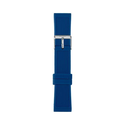Cinturino Orologio Iam IAM-302. Cinturino large per orologio Iam realizzato in silicone di colore blu con fibbia in acciaio.